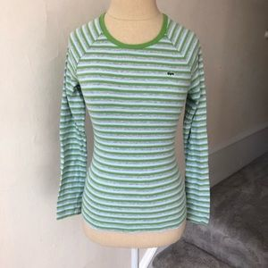Lacoste Striped Cotton Long Sleeve Tee EUC